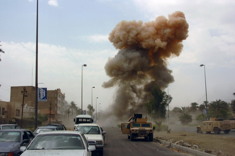 ISIS militants set off 21 car bombs in Ramadi, Iraq on March 11, 2015.