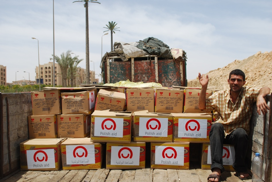 Polish humanitarian assistance packages in Libya (Photo: Polish Embassy, Cairo)