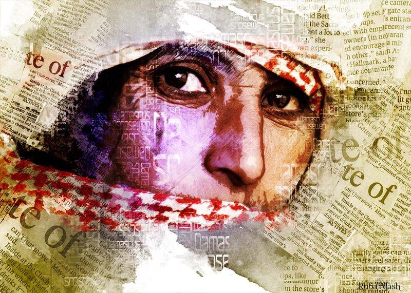 """Syrian Woman"" by Ruba Alash (http://dollofroz.deviantart.com)"