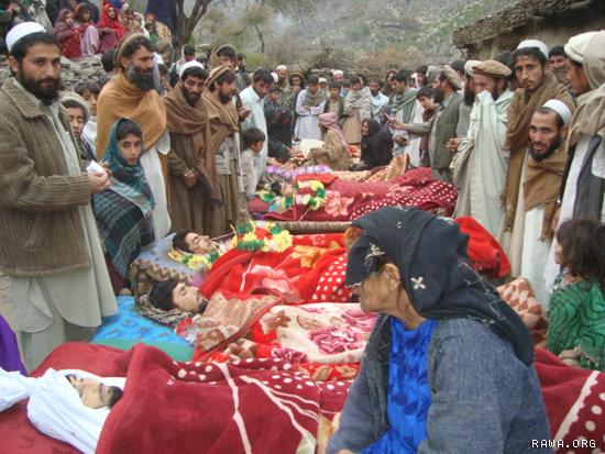 Civilian casualties after the Narang night raid, Iraq 2009