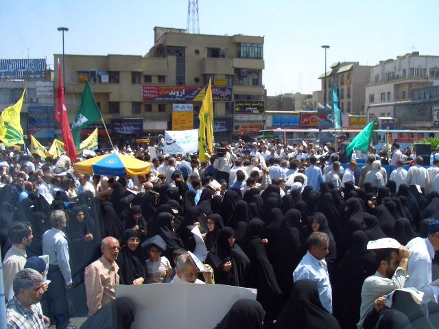 Women protest in Tehran