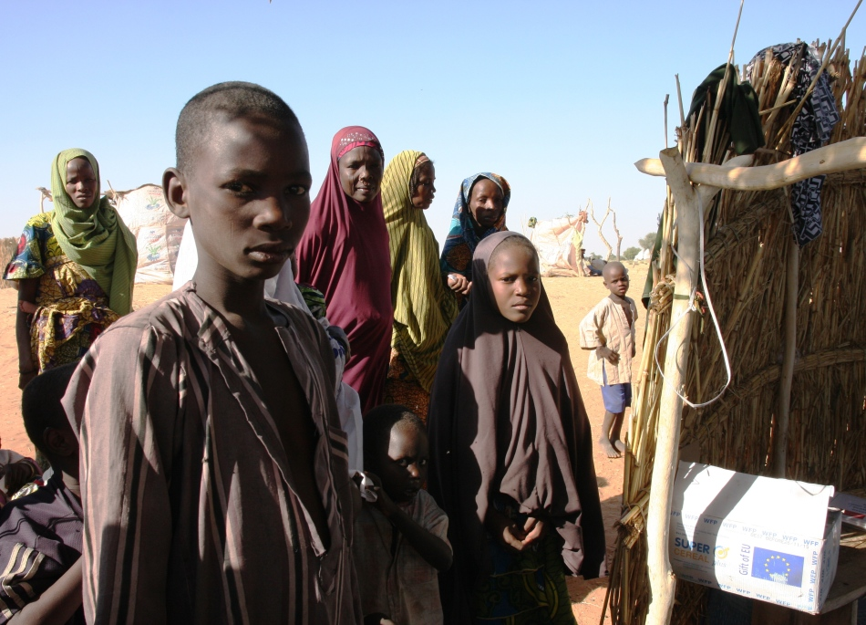 Nigerian refugees in Gagamari camp