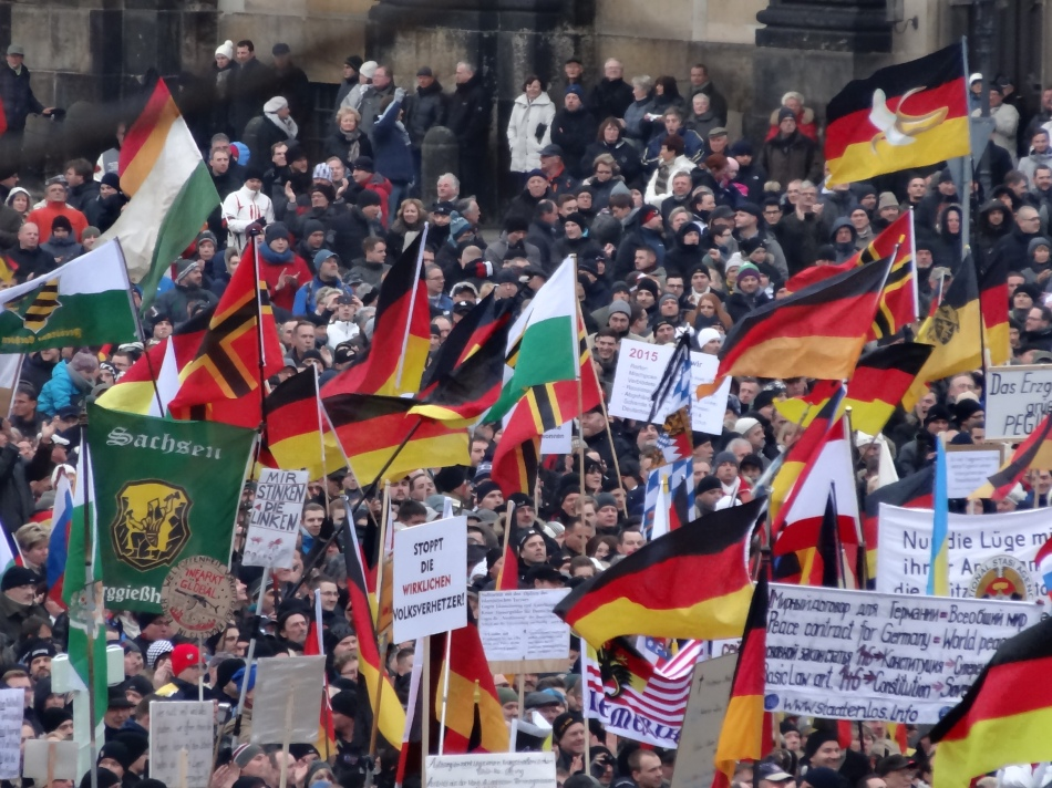 Pegida demonstrations in Dresden 25 January 2015