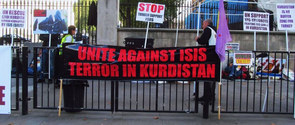 Protestors against ISIS. London, September 30, 2014.