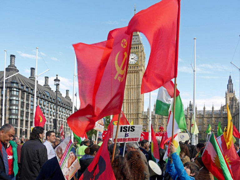 Kurdish protest against ISIS in London, October 2014 (Alan Denney).