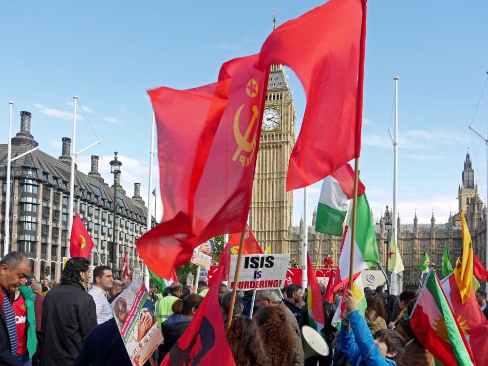 Kurdish protest against ISIS in London, October 2014 (Alan Denney).