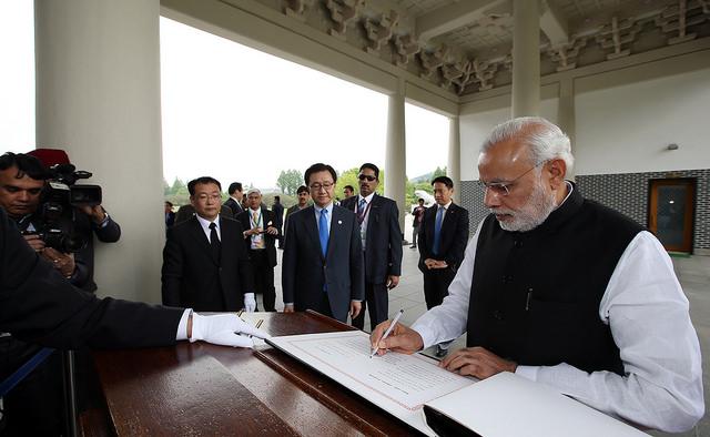 Prime Minister Narendra Modi visits Korea, May 18 2015.