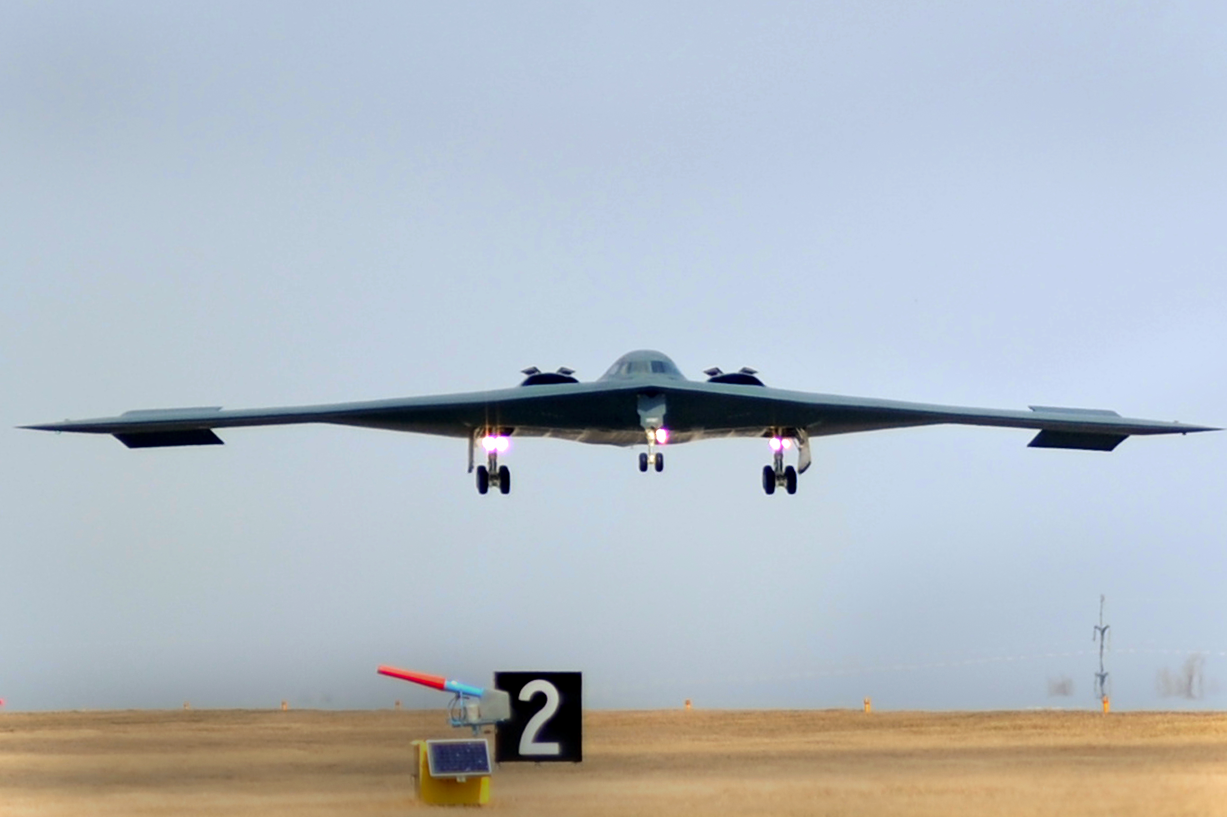 is advances in as political negotiations falter time for an american b 2 spirit bomber lands at whiteman air force base after a bombing