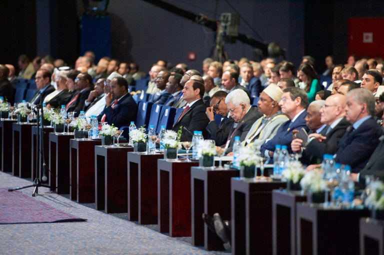 SIsi at the Egyptian Economic Development Conference in Sharm al-Sheikh, March 2015.