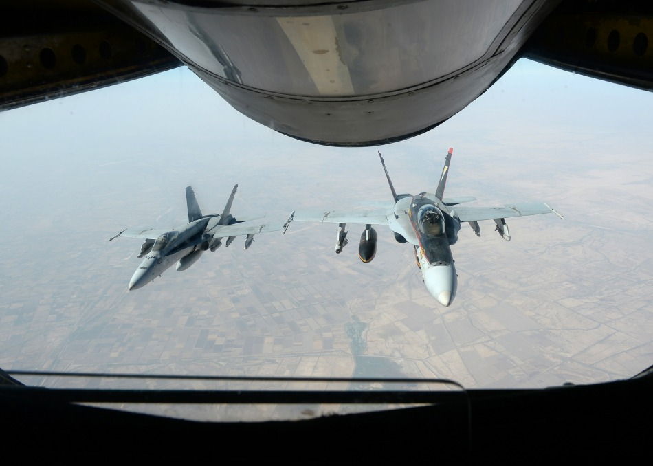 US aircraft flying over Iraq, October 2014 (DOD).