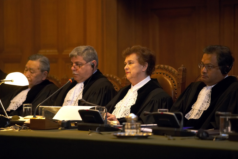 Judges at the International Court of Justice.