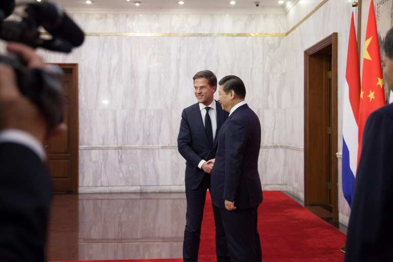 President of China Xi Jinping meets with Prime Minister of the Netherlands Mark Rutte.