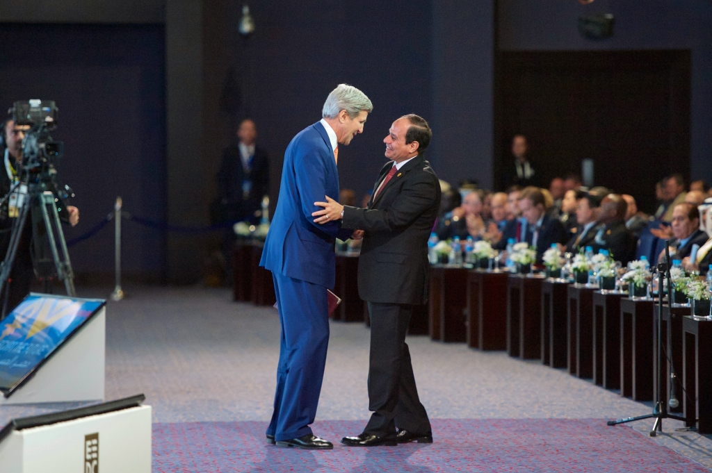 President_al-Sisi_Thanks_Secretary_Kerry_After_he_Addresses_Audience_of_Several_Thousand_Attending_Egyptian_Development_Conference_in_Sharm_el-Sheikh