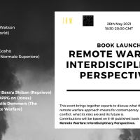 Upcoming Event 26th May - Book Launch - Remote Warfare: Interdisciplinary Perspectives